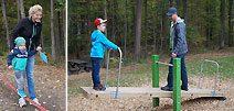 Familienpicknick mit Spielstationen am Waldspielplatz