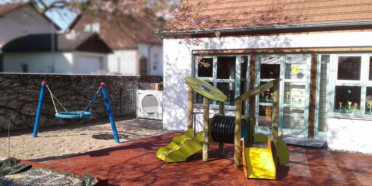 Neuer Außenbereich für die Krippe in unserer KitaPlus (Foto: Larissa Thamm)